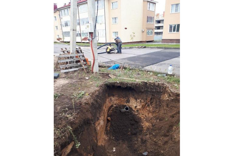 ГНБ прокол в Масловке, прокладка трубы под дорогой Масловка